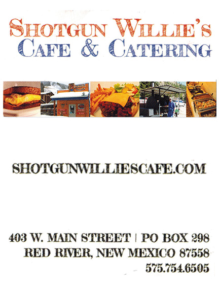 Shotgun Willie's Café & Catering, Red River, NM
